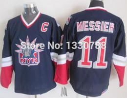 Wholesale liberty vintage - Cheap Original New York Rangers Jersey Mark Messier Liberty Navy Blue Alternate 1998 CCM Vintage NY Rangers Hockey Jerseys
