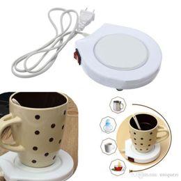 Wholesale Coffee Mug Heater - New White Electronic Powered Cup Warmer Heater Pad Coffee Tea Milk Mug US Plug