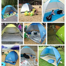 Wholesale Party Tents Ship Free - Free Bulid Easy Carry Tents Outdoor Camping Shelters UV Protection For 2-3 People Tent Beach Travel Lawn Family Party Fast Shipping