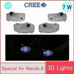 Wholesale Door Logo Light Mazda - car LED kit FOR MAZDA 6 2004-2013 car Door logo Projector light Ghost Shadow automobiles Welcome auto door lamp 12V led light