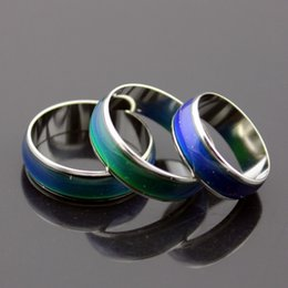 Wholesale Wholesale Stainless Steel Mood Rings - 100pcs mix size mood ring changes color to your temperature reveal your inner emotion cheap fashion jewelryD081