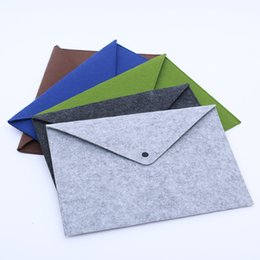 Wholesale Wholesale Document Pouch - Wholesale-A4 File Folder Wool felt Multifunction Office Documents bags Business Paper File Zip Pouch Meeting Conference Travel Handbag