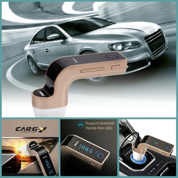 Wholesale Sd Card Car Stereos - G7 Smartphone Bluetooth MP3 Radio Player Handfree FM Transmitter Modulator 2.1A Car Charger Wireless Kit Support Hands-free Micro SD TF Card