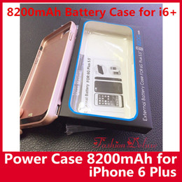 Wholesale Iphone Portable Battery Case - 8200mAh Battery Charger Power Case for iPhone 6 Plus 5.5 inch Portable Charger Power Bank External Battery Case for i6s plus Instock