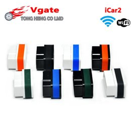 Wholesale Elm 327 Vgate - Wholesale- Factory Price Vgate ELM 327 WIFI iCar 2 OBD2 ELM327 iCar2 Wifi Vgate OBD Diagnostic Interface Support for iPhone   Android   PC