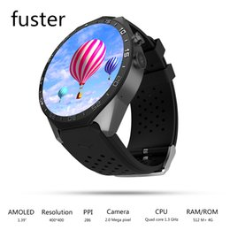 Wholesale Wifi Sim Watch - Wholesale- Genuine KW88 Android 5.1 OS Smart Watch With GPS and 2M Camera Support 3G WCDMA Wifi Connect and Sim Card