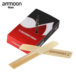 Wholesale Clarinet For Parts - Wholesale- ammoon 10-pack Pieces Strength 2.5 Bamboo Reeds for Bb Clarinet Woodwind Instruments Parts & Accessories