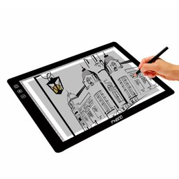 Wholesale Gloves Drawing - PNBOO PA4 Digital Tablets 18 inch Tracing Light Box with 10PCS A4 Sheet   1PC Drawing Glove