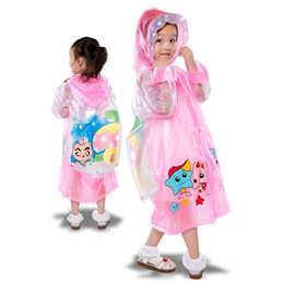 Wholesale Children Rain Coat Cartoon Animal - 50pcs Children Raincoat 2016 New Cartoon Cape-style Girl Boy Children Kids Students Bicycle Poncho Rain Coat Waterproof Rainwear ZA0515