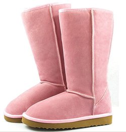 Wholesale Silver Tall Boots - DORP SHIPPING High Quality Women's Classic tall Boots Womens boots Boot Snow boots Winter boots leather boots boot US SIZE:5-13