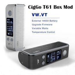Wholesale Material Aluminium - Original CigGo T61 Mod 1-61W TC Mods E Cigarette Vape Mods VW  VT BYPASS Mod High Quality Aluminium Alloy Material