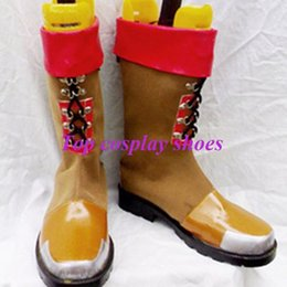 Wholesale Robot Halloween Costumes - Wholesale-Freeshipping Super Robot Wars OGS Axel PU Leather Cosplay Boots shoes custom-made for Halloween Christmas festival