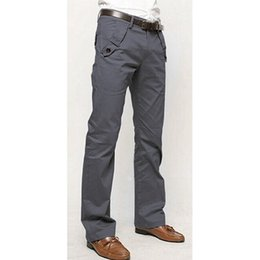 Wholesale Decorated Dresses - Wholesale-2016 New Brand Mens Fashion Slim Fit Straight Dress Pants Smooth Pockets Decorated Business Trousers Pant Pantalon Homme 3 Color