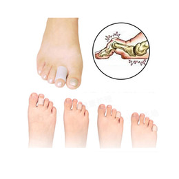 Wholesale Fingers Blisters - Useful High Quality Silicone Gel Finger Toe Tube Separator Bunion Protector Foot Corn Tube Blister Pain Relief