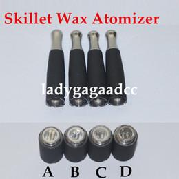 Wholesale Double Tank Atomizer - Dual coil 510 skillet wax atomizer double coil skillet quartz Coil atomizer Herbal Wax Tank Metal Drip Tip for eCigs Vaporizer