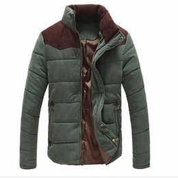 Wholesale Mens Thermal Winter - Fall-Autumn winter New Fashion Mens Casual warm Coat Jacket Thermal Wadded Splice Jacket Thickening Cotton-padded coats plus size