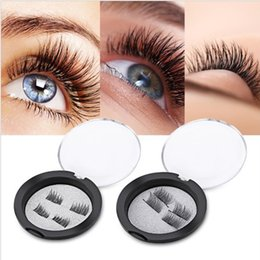 Wholesale Super Black Hair - 10Pairs Super soft silk artificial magnet eyelashes woman makeup magnetic eyelash popular 3d lashes ( 4pcs for 2 eyes)
