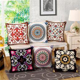 BZ134 luxe housse de coussin taie d'oreiller Home Textiles fournitures lombaire oreiller campagne américaine broderie oreillers chaise ? partir de fabricateur