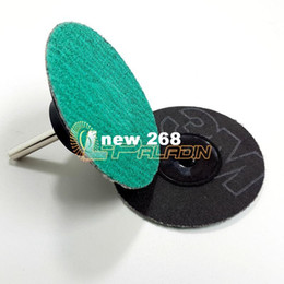 "Wholesale Sand Abrasives - 100 pieces 3"" Zirconia 577F Roloc Sanding Abrasive Disc Quick Change Disc Hard Metal Weld Polishing Deburring P40-120"