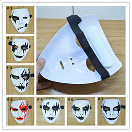 Wholesale ghost painting - Cool Hip-Hop Masks Halloween Party Masks School Performance Masquerade Mask Hand Painted Ghost Decoration Free Shipping