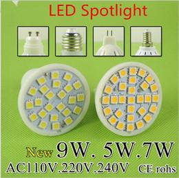 Wholesale Ul 5w Spot Light - Super Bright MR16 LED Lamp LED Spotlight 5W 7W 9W Bombillas E27 E14 GU10 Spot light Lampada LED Bulb E27 110V 220V Lampara