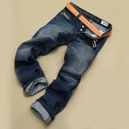 одежда оптом европа Скидка Wholesale-mens jeans homme top designer -clothing straight men jeans fashion Europe and America style biker denim jeans man