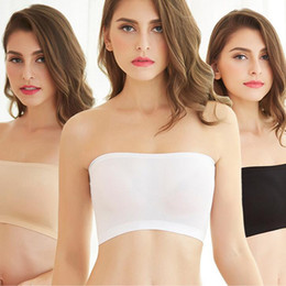 Wholesale Tops Partner - Anti Emptied Thin Chest Wrap Without Straps High Strecth Short Tube Tops Lady Underwear Dresses Partner