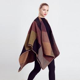 Neue 2016 Frauen Farbabstimmung Nachahmung Wolle Doppelseite Schal Mantel Übergroßen Kaschmir Schal Decke Pashmina Mantel von Fabrikanten