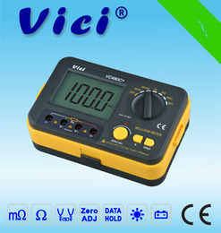 Wholesale Low Resistance Meter - 3 1 2 Digital Milli-ohm Meter Accuracy 4 Wire Test Backlight Multimeter Precision Low Resistance Tester 0.01Mohm to 2Kohm