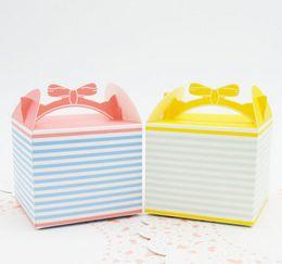 2017 Nuova vendita calda cupcake biscotti torta Dessert biscotti scatola carta biscotto borse Rosa fiocco mousse al formaggio da