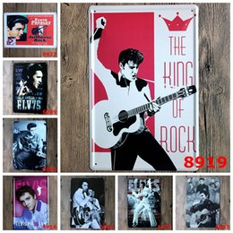 "Wholesale Elvis Plates - Hot sales ""Elvis Presley"" Tin signs movie poster Art House Cafe Bar Vintage Metal Painting wall stickers home decor 20x30 CM"