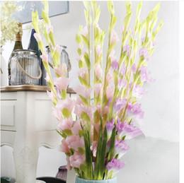 Wholesale Cheap Vases Flowers - 30pcs  single branch swordland cheap artificial flowers simulation plant vase flower home wedding decor
