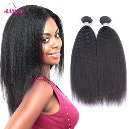 Wholesale Wholesale Remy Yaki Hair - Cambodian Kinky Straight Virgin Yaki Remy Hair Weave 3pcs lot Bundles 100% Human Hair Extensions Natural color high quality