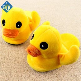 Wholesale B Duck Wholesale - Wholesale- Winter Home Shoes Animal Yellow Duck Slippers Women Men Cartoon Indoor Men Household Floor Chinelos Pantuflas Pantofole Donna