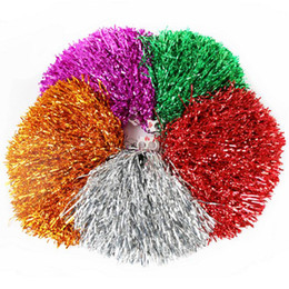 Allegri palle online-Colorful Hands Cheerleading Flower Ball Personalizzato Straight Shank Plastic Wire Cheer Stage Performance Dance Sticks Rocking Ball Cheerleader
