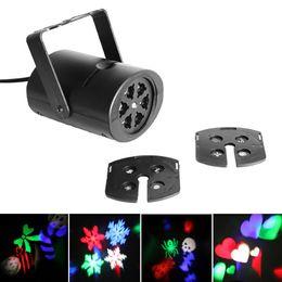 Wholesale Strobe Light Effect - Free Shipping! 8 Patterns 4W Laser Projector RGB LED Stage Lighting DJ Xmas Party Effect Light LEG_904