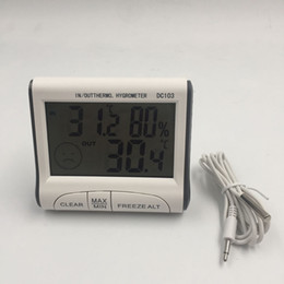 Wholesale Measure Humidity - Household Digital Thermometer Hygrometer with LCD Screen Useful Indoor and Outdoor Max Min Temperature Humidity Measuring Device