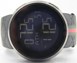 Wholesale Digital Rubber Strap Watches - Top quality IN original BOX Mens 114 Black PVD Rubber Strap 44mm Digital YA114207 RUBBER BRACELET QUARTZ SPORT Luxury WATCHES