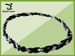 Wholesale Titanium Necklaces For Sports - green black white baseball softball football necklace -via DHL New titanium braided 3 ropes tornado necklaces for SPORTS 18'' 20'' 22''