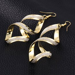 Wholesale Matte Earrings - European Vintage Dangle Earrings Exaggerated matte cross Hook Earrings Women Gold Plated Statement Earrings African Jewelry Party Costume