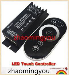Wholesale Rf Remote Dimmer - DC12V 24V Led Touch controller 1 Channel RF Wireless 25a 300w Led Dimmable Dimmer Remote Controller To Control Led Strip