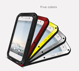 Wholesale Proof Love - Love MEI Shockproof Waterproof Dust Snow Proof Aluminum Metal Case Gorilla Glass Heavy Protection Case Cover for HTC One A9