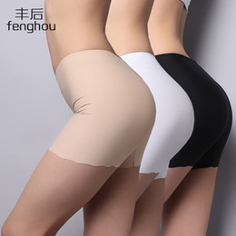 Wholesale Sexy Black Women For Sale - Wholesale-Hot Sale New 2016 Sexy Panties For Women Underwear Seamless Panties Ice Silk Material Safety Panties Plus Size Free