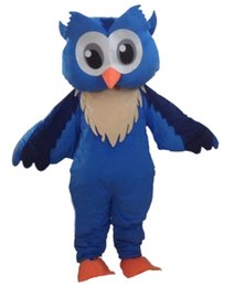 Wholesale Adult Costumes Owl - wholesale New Professional New Style Big Blue Owl Mascot Cartoon Costume Fancy Adult Size Free shipping