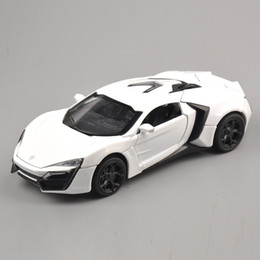 Wholesale Scaled Cars - 1:32 Scale 4 Color Alloy Lykan Hypersport Toy Car Fast & Furious 7 Diecast Car Model Cars Model Toys With Light&Sound