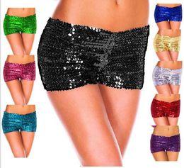 culottes chaudes gratuites Promotion Wholesale-9colors Hot New 2016 Femmes Shorts Paillettes Shiny Shorts Femmes Sexy Panties Club Shorts Livraison Gratuite