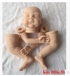 "Wholesale Kit Reborn Silicone - Wholesale-Silicone reborn baby dolls kit soft Vinyl SAME AS KRISTA lifelike baby doll 20-22"" doll accessories"