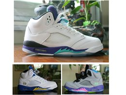 Wholesale Canvas Shoes For Low Price - Pro Stars Black purple grapes Cheap 5S sports shoes discount prices mens basketball shoes sneakers for sale 5S athletic Retros Women white 5