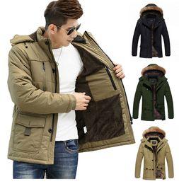 Wholesale Men Faux Fur Parka - Fall-Size 4XL 5XL Motorcycle Winter Jacket Men Famous Brand Fashion Thick Warm Parka Jakcet Men Hooded Fleece Faux Fur Coats Men J026