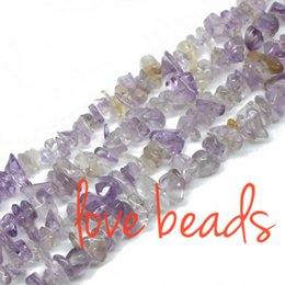 """Wholesale Yellow Stone Silver Bracelet - Natural Yellow Amethyst Gravel 5-8mm Loose Beads Freeform Material Stone Beads Strand 33"""" wholesale Diy Bracelet (F00297) wholesale"""